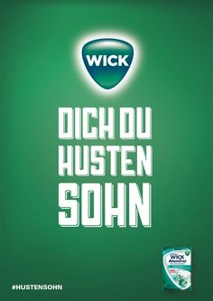 Wick Dich Du Hustensohn - Das Motiv wurde mit einem silbernen Nagel…