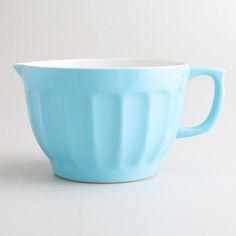 Large Blue Melamine Batter Bowl