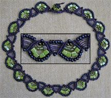 Little Fans Necklace Macrame Bead Pattern by Dottie Hoeschen AKA Stonebrash Creative at Bead-Patterns.com