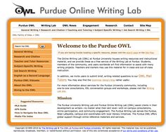 From Anina: After looking at a lot of different options in a variety of really interesting and engaging formats, I decided to post the Purdue OWL because I find it to me one of the most useful tools out there for help with writing. It includes information on every form of citation, vidcasts, information for writers at different levels, and more.  It is really an amazing resource that I use myself and would refer others to for any help they might need with their writing.