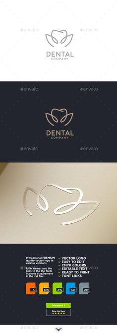 Dental Logo — EPS Template #modern #sophisticated • Download ➝ https://graphicriver.net/item/dental-logo/18153500?ref=pxcr