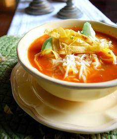 Chicken tortilla soup. Yum!