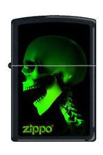 Zippo 1583 skull skeleton in green RARE & DISCONTINUED Lighter