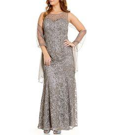 Ignite evenings illusion soutache dress