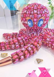 Pinky the Octopus with jewelry from the Diamonds Unleashed by Kara Ross collection for @HSN.