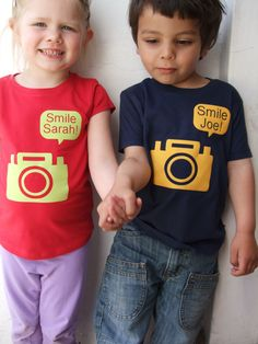Childrens+Personalised+Camera+T+shirt+Short+Sleeves+by+littlechook,+£18.00