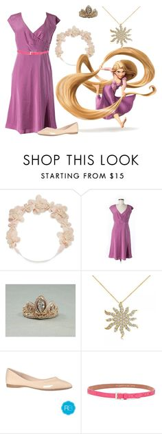 """""""Favorite Princess: Rapunzel"""" by madalynkw ❤ liked on Polyvore featuring Carole, Disney, Garnet Hill, Allurez and Kate Spade"""