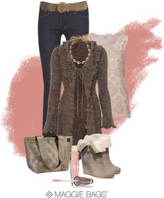 """""""Nice 'n Neutral"""" by maggiebags ❤ liked on Polyvore"""