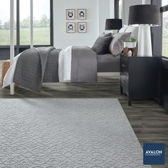 An area rug or carpet is perfect to have in your bedroom to warm up your feet first thing in the morning #arearugs #arearug #bedroomdesign #interiordesign