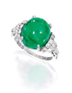Platinum, Emerald and Diamond Ring, Van Cleef & Arpels - Sotheby's