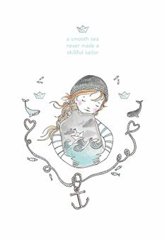 Marieke ten Berge 'A4 Poster Terrarium Sailor'