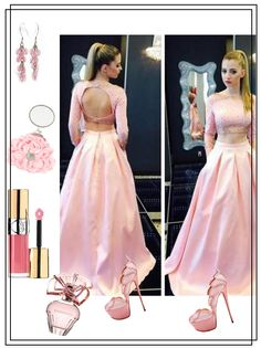 Outfit prom dresses, A-line Bateau Floor-length Satin Prom Dress Evening Dress