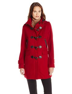 cddb9fb95d09 Tommy Hilfiger Women's Missy Wool Duffle Coat, Red, X-Small Tommy Hilfiger  http