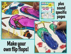 Flip Flop Articulatlon Dot Art (NO prep & ALL Sounds} plus a craftivity! So fun for summer themed speech therarpy!