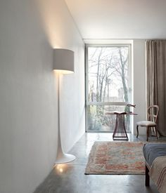 Sebastian Wrong Spun lamp for integration into plasterboard walls