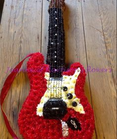 Harrisons Flowers Electric Guitar using Val Spicer frame