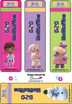 Bookmarks, Doc McStuffins, Bookmarks - Free Printable Ideas from Family Shoppingbag.com