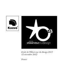 Koove - Etoile de l'Observeur du Design 2013.