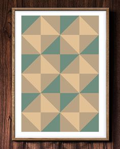 Scandinavian design abstract geometric print by HomePosters, $18.00