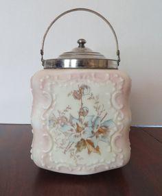 Antique Wave Crest Biscuit Cracker Jar by apickerseye on Etsy, $135.00