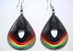 Rasta works so good in peacock earrings