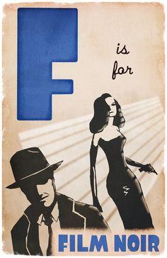 F is for Film Noir (etsy)