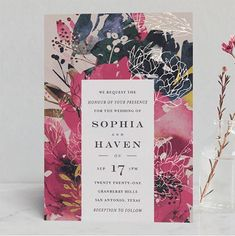 13 Wedding Invitations to Feed Your Spring Fever   Brit Co