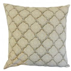 """Dress up your living space with this decor piece. Featuring a geometric pattern in shades of brown, yellow and white, this 18"""" pillow brings extra comfort to any of your furniture. Place this square pillow to your window seat, sofa, chair or bed. This throw pillow is made of 100% high-quality cotton fabric. Crafted in the USA. $55.00  #pillows  #geometric  #tosspillow  #homedecor"""