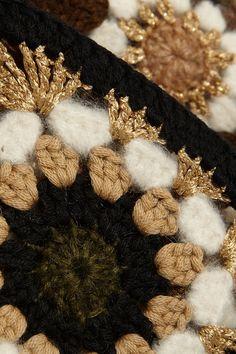 very bling crochet granny square!