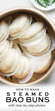 Steamed Bao Buns, healthy desserts healthy desserts under 100 calories . - Steamed Bao Buns, healthy desserts healthy desserts under 100 calories … - 100 Calories, Kitchen Gourmet, Kitchen Recipes, Steamed Bao Buns, Japanese Steamed Buns, Japanese Buns, Steamed Food, Japanese Noodles, Breakfast Low Carb