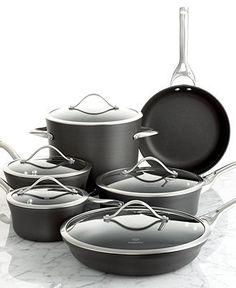 Calphalon Contemporary Nonstick 11 Piece Cookware Set - Cookware - Kitchen - Macy's
