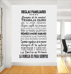 reglas familiares 3 #decoraciondecuartos