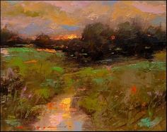 """Daily Paintworks - """"Spring Sunrise_003"""" by Angel Angelov"""