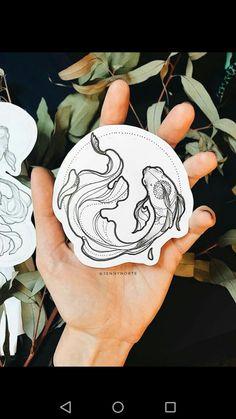 Dotwork koi fish tattoo with circle Fish Drawings, Tattoo Drawings, Art Drawings, Koi Fish Drawing, Japanese Drawings, Kunst Tattoos, Body Art Tattoos, Tatoos, Circle Tattoos