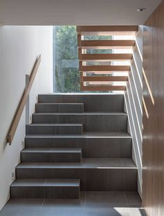 Designed in 2018 by Mclean Quinlan, this contemporary stone house is located in West Sussex, England, UK. Home Stairs Design, Interior Stairs, Home Room Design, House Design, Architecture Today, Stairs Architecture, Architects London, Escalier Design, Harbor House