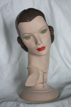 Mannequin Head Fiona #23 with movable base extra fee by MannequinHeadsToLove on…