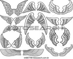 Clipart - asas anjo k4867799 - Busca de Clip Art, Ilustrações em Posters, Desenhos e Vetores Gráficos EPS - k4867799.eps