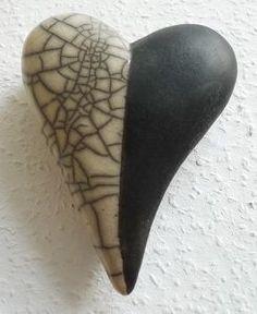 Deko Herz Schwarz-Weiß