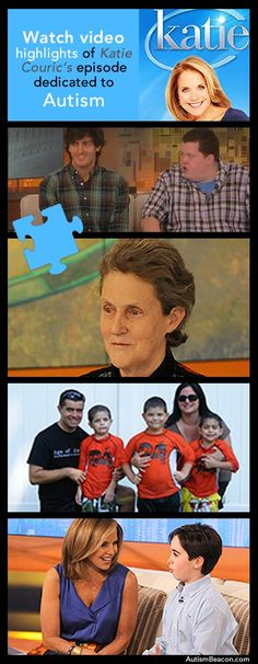 Thanks, Katie Couric, for doing an entire episode on Autism. Click the graphic to watch video highlights! #Autism