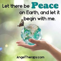 Let Peace begin with me!