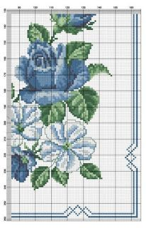 Discover thousands of images about - Home Dekoration Cross Stitch Borders, Cross Stitch Rose, Cross Stitch Flowers, Cross Stitch Designs, Cross Stitching, Cross Stitch Embroidery, Hand Embroidery, Cross Stitch Patterns, Crochet Quilt