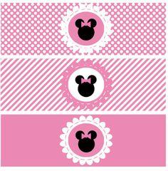 Bottle Wrapper Minnie Pink - Printable Party PDF - digital Minnie Mouse. $3.50, via Etsy.