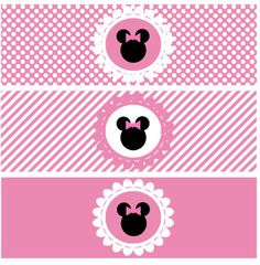 Bottle Wrapper Minnie Pink - Printable Party PDF - digital Minnie Mouse. $3.50, via Etsy.
