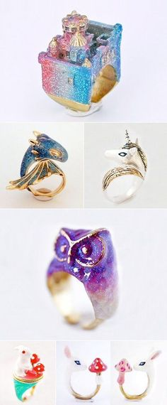 Monvatoo London make it just a bit more magical with their fantastical jewellery featuring dragons, castles, unicorns and more. December 2014 | The Carrotbox modern jewellery blog and shop — obsessed with rings #jewelrystyle