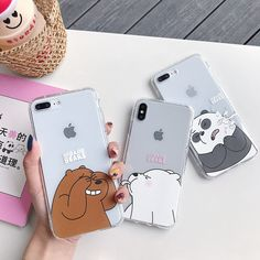 Cute Cartoon Panda Bear Shockproof Silicone Case For Iphone 11 Pro X XR XS Max 8 7 6 6S Plus SE Couple Clear Soft TPU Back Cover Iphone 7, Coque Iphone, Iphone Phone Cases, Phone Covers, Cartoon Panda, Cute Cartoon, Diy Phone Case, Cute Phone Cases, Silicone Iphone Cases