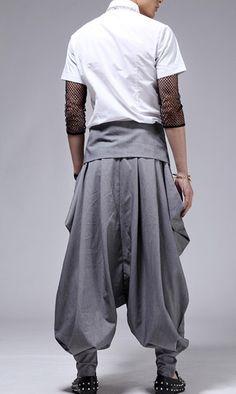 Men's Fashion High Waist Individualistic Harem Pant 1749 - WearingSales.com