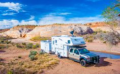 Camping off-the-grid at Coyote Buttes in Vermilion Cliffs National Monument, Arizona, http://www.truckcampermagazine.com/camper-lifestyle/full-time-truck-campers-must-be-crazy