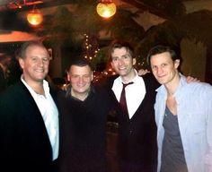 Peter Davison,  Steve Moffatt,  David Tennant and Matt Smith