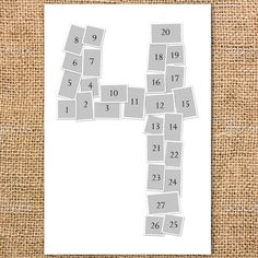 Single Number Layered Photo Collage Poster by ThePaisleyPickle