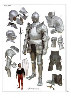 Hello, reference folder! I've always thought that the elbowpiece of plate armor (Wikipedia tells me it is called a Cowter) is such an unusual shape. The progression here is so interesting and...